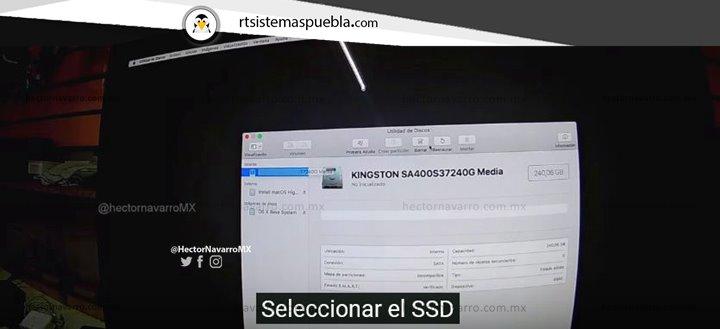 Seleccionar el SSD