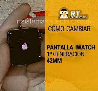 Como cambiar pantalla iWatch 1 generacion 42mm