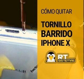 donde quitan tornillos barridos de iPhone X en Puebla